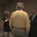 Video image of Tom Horner at St. Cloud meet-and-greet, Aug. 16, 2010.