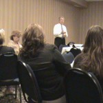 Video image of Tom Horner speaking in St. Cloud, Aug. 16, 2010.