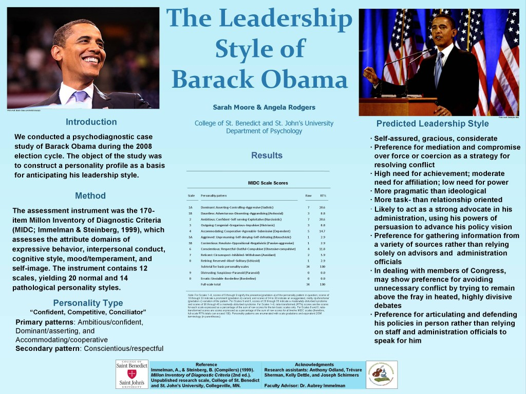 Obama Leadership Style poster