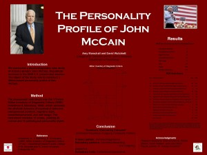 Poster detailing the personality profile of John McCain