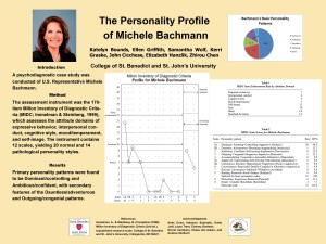Provisional Personality Profile -- Michele Bachmann (May 2011)