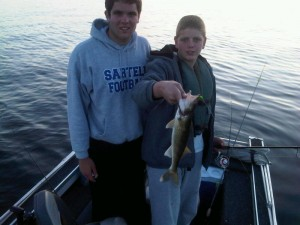 &quot;Eater&quot; walleye caught on slip bobber with jig and leech at &quot;The Graveyard.&quot; (Photo: Aubrey Immelman)