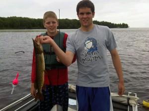 Northern pike caught on spinner bait in Isle Bay. (Photo: Aubrey Immelman)