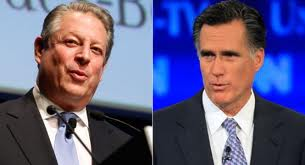 Al Gore and Mitt Romney composite image.