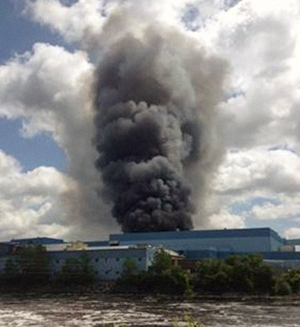 Sartell paper mill explosion, Memorial Day 2012 (WCCO)