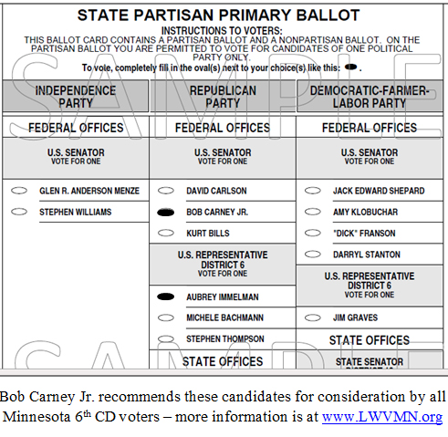 The immelman turn » blog archive » primary election day in mn-06.