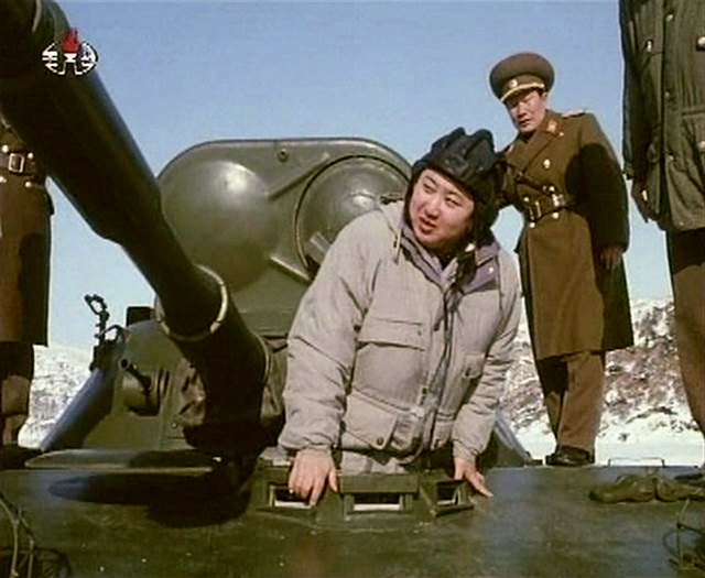 Kim Jong Un inspects an armored vehicle in this undated still image taken from video released by North Korean state TV KRT on Sunday, Jan. 8, 2012. (Photo: KRT via Reuters)