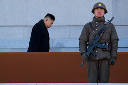 North Korean leader Kim Jong Un, left, on Feb. 16, 2012. (Photo: David Guttenfelder / Associated Press)