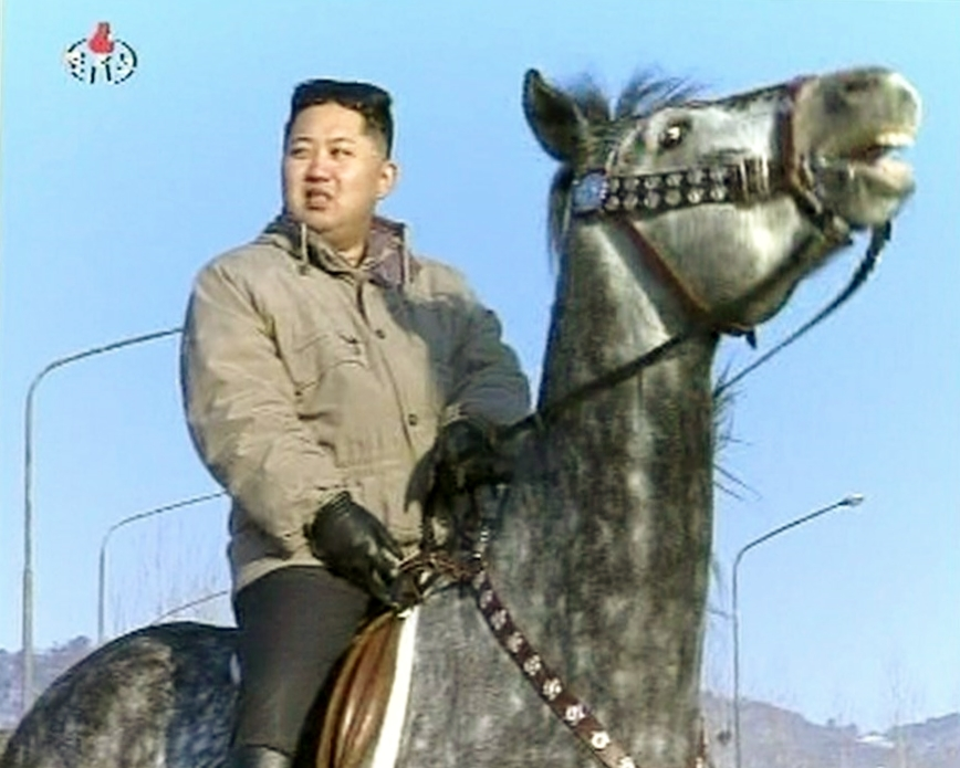 North Korean leader Kim Jong Un rides a horse in this undated still image taken from video released by North Korean state television KRT on Jan. 8, 2012. (Photo: KRT via NBC News)
