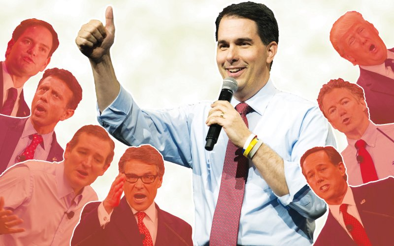 Scott Walker Illustration by Sarah Rodgers / The Daily Beast