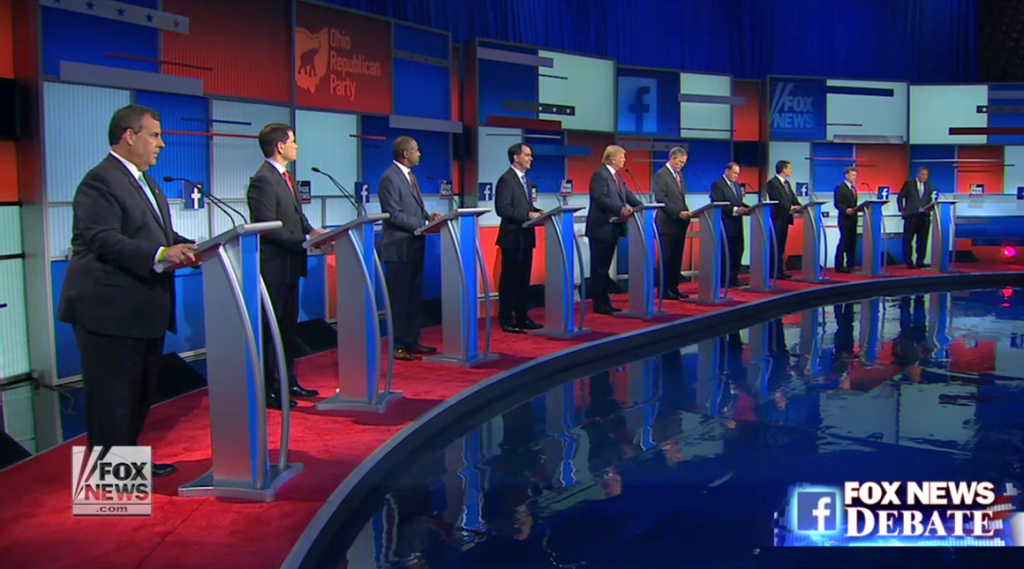 Fox News candidates on stage
