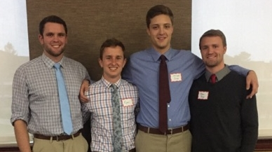 Four members of the St. John's basketball entering first-year class of 2013 were inducted into Phi Beta Kappa at the College of St. Benedict and St. John's University as graduating seniors in 2017: Tim Immelman, Ryan Buron, Conrad Sexe, and Ethan Freer.