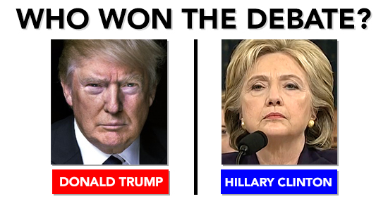 who won the debate - photo #9