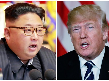 Combination photo of North Korean leader Kim Jong Un and U.S. President Donald Trump