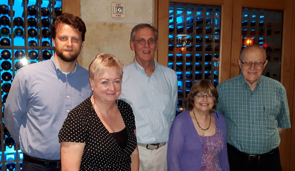 Brad Morrison (University of British Columbia), Christ'l De Landtsheer (University of Antwerp), Aubrey Immelman (St. John's University), Phyllis Johnson and Peter Suedfeld (University of British Columbia), ISPP, San Antonio, Texas, July 5, 2018.